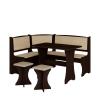 Jídelní set /kuchyňská lavice, sestava rohová) s taburety