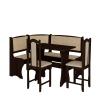 Jídelní set /kuchyňská lavice, sestava rohová) se židlemi