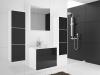 Koupelnový nábytek Pula bílá/černý lesk - sektor