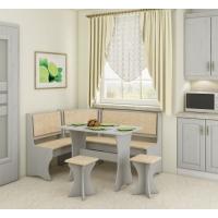 Jídelní set /kuchyňská lavice, sestava rohová) s taburety craft bílý