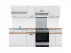 Kuchyňská linka Junona 240cm bílá/bílý lesk
